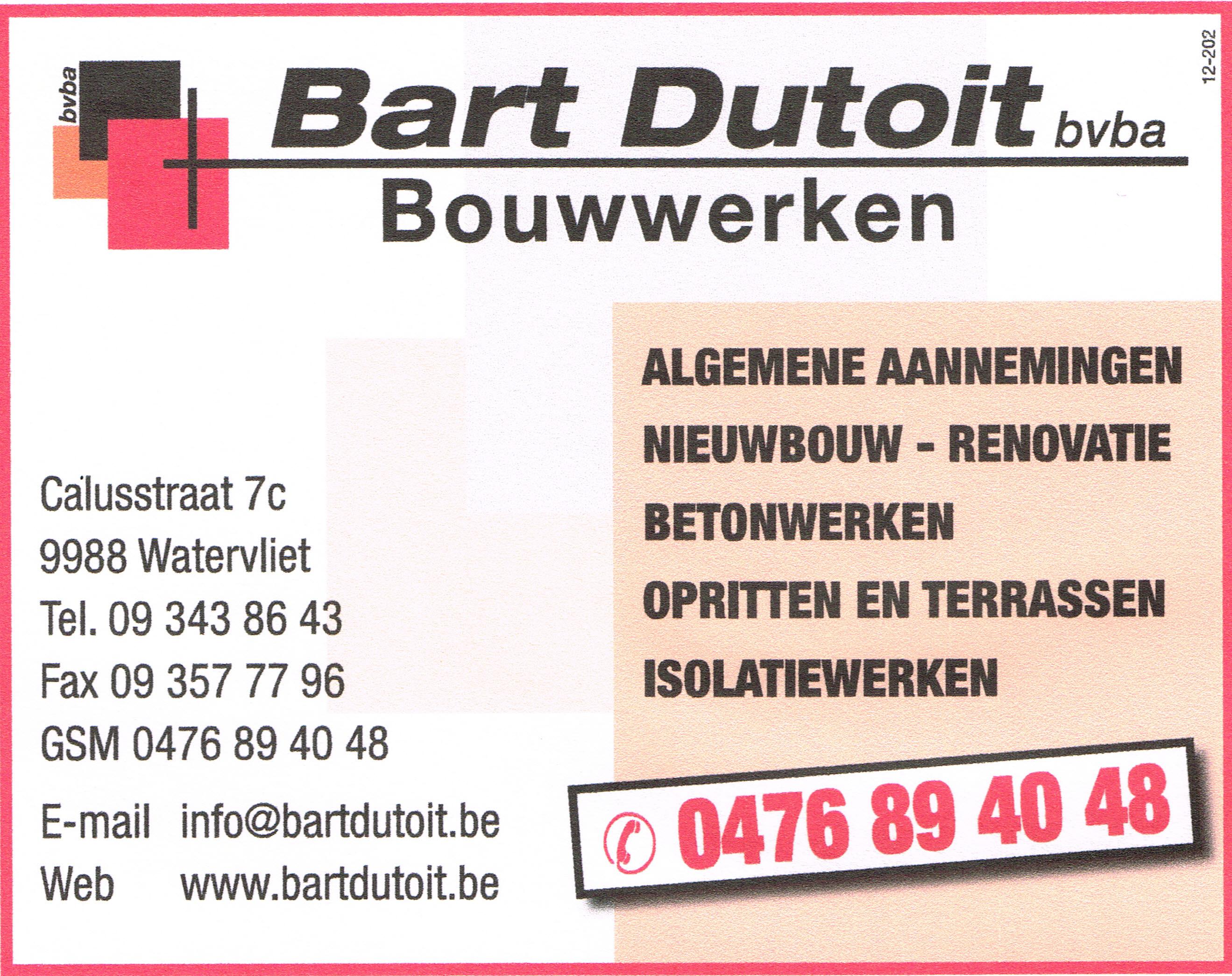 a Bouwwerken Bart Dutoit bvba